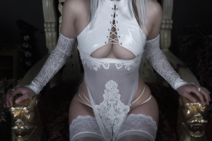 Nia Automata No2 White Miyan Chinese Dress033