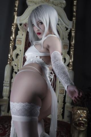 Nia Automata No2 White Miyan Chinese Dress040