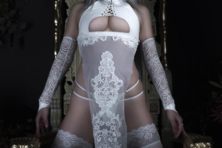 Nia Automata No2 White Miyan Chinese Dress043
