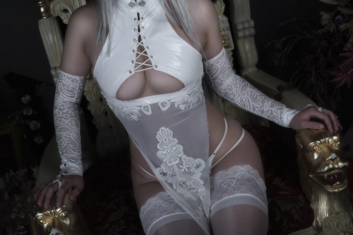 Nia Automata No2 White Miyan Chinese Dress042
