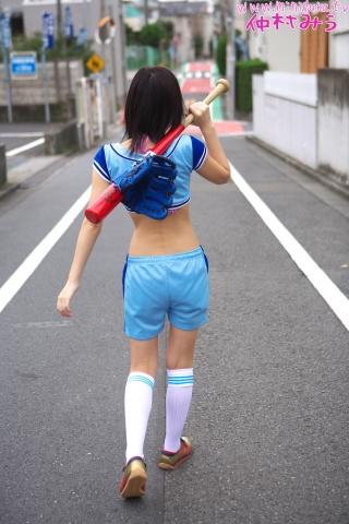Miu Nakamura Baseball girl pink swimsuit bikini gravure020