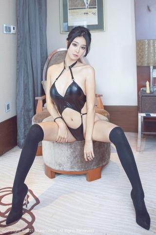 Black leather swimsuit micro bikini beautiful swimsuit003
