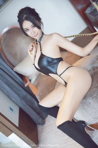Black leather swimsuit micro bikini beautiful swimsuit008