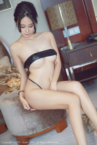 Black leather swimsuit micro bikini beautiful swimsuit051