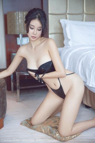 Black leather swimsuit micro bikini beautiful swimsuit048