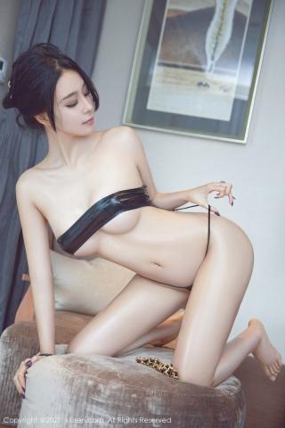 Black leather swimsuit micro bikini beautiful swimsuit061