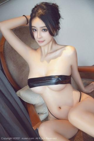 Black leather swimsuit micro bikini beautiful swimsuit065