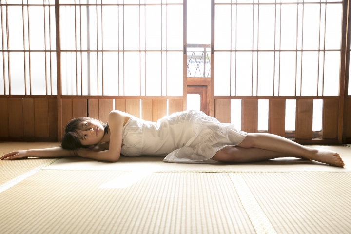 Chisaki Morito White Swimsuit Bikini Guest House Ship001