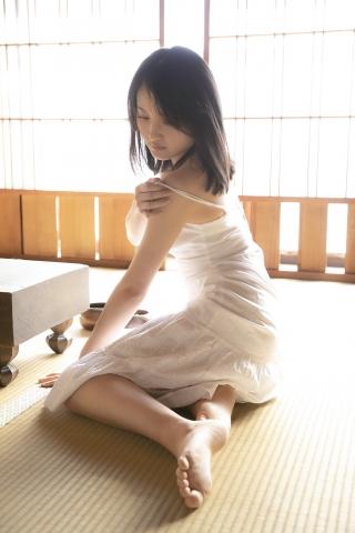Chisaki Morito White Swimsuit Bikini Guest House Ship004
