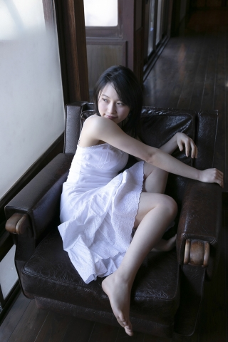 Chisaki Morito White Swimsuit Bikini Guest House Ship010