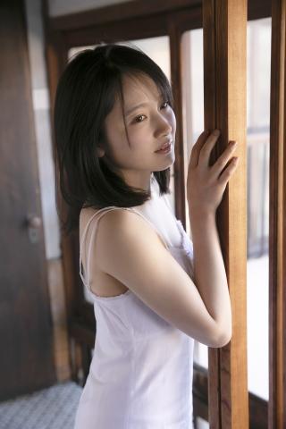 Chisaki Morito White Swimsuit Bikini Guest House Ship009