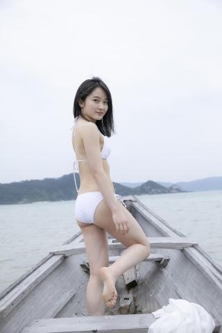 Chisaki Morito White Swimsuit Bikini Guest House Ship012