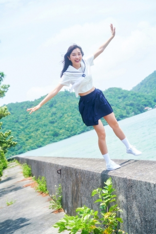 Lumika Fukuda an extremely beautiful girl in her current high school002