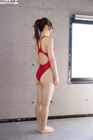 Ai Takanashi Red Swimming Race Swimsuit Images006