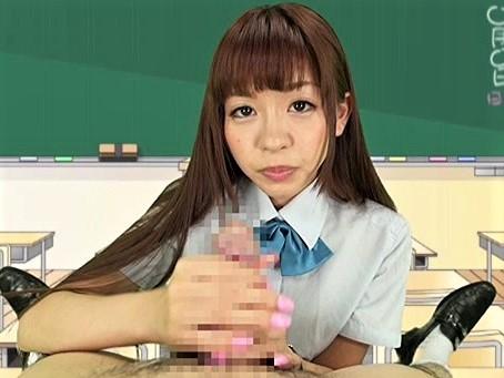 【葉山めい】普通っぽい制服娘が淫語連発で手コキ&フェラ!下品に結合部を見せつけるSEX!
