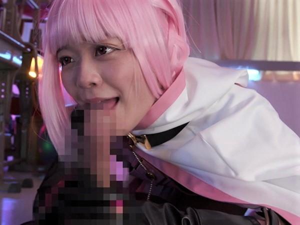 【奏音かのん】ピンク髪アニコス美少女が手袋コキと濃厚フェラでザーメンを吸い出します。