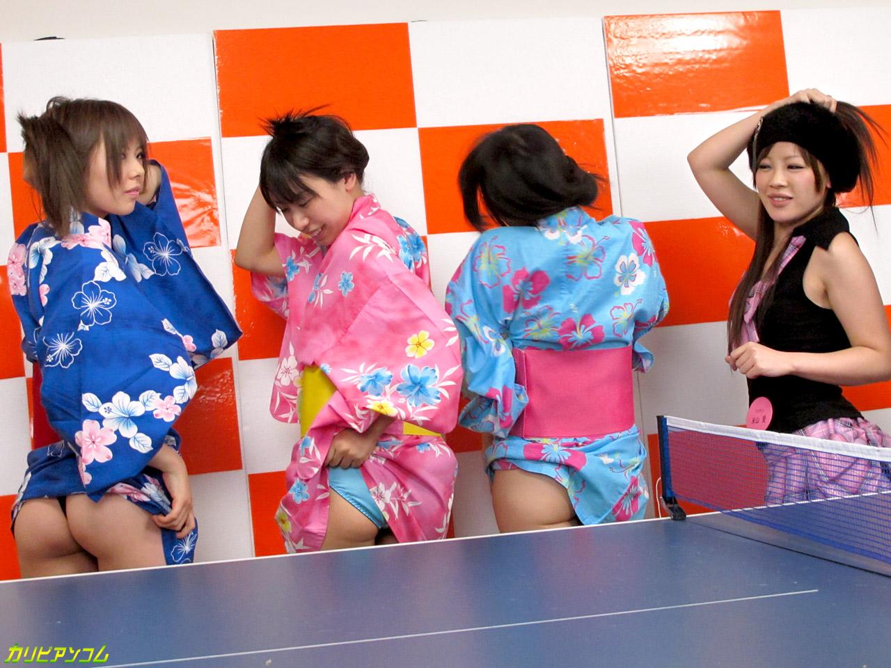 カリビアンTV 第2回 2010年11月6日放送分 脱衣エロ卓球対決!
