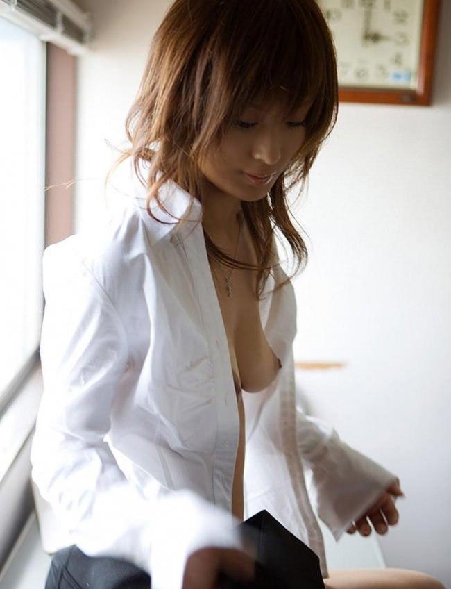 白シャツ女子 37