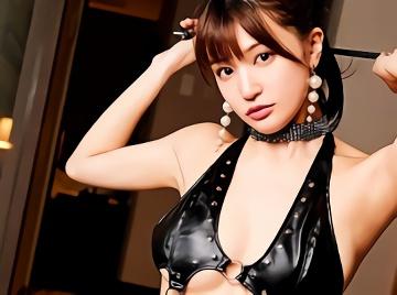 【高橋しょう子】元グラビアアイドルの超絶カワイイ巨乳美少女がボンテージコスプレ衣装でM男を弄ぶ痴女プレイに挑戦!