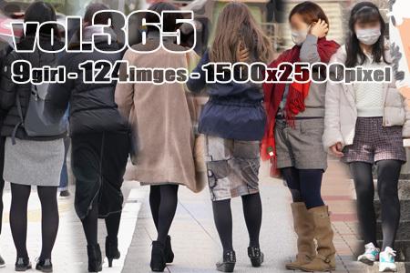 ■ ■vol365-むっちり美脚に張り付き締め付ける黒タイツ