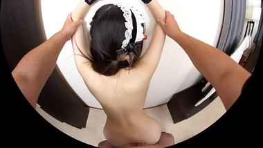 【VR】眼鏡かわいい美肌ロリっ娘メイド(跡美しゅり)を壁ドンからの立ちバック【ボクのことを好き過ぎる○○メイドとのなんともうらやましい日常。】#8