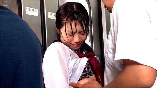 Hな下着の女子校生の、凌辱痴漢素股エロ動画!【着エロ動画】