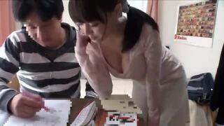 【家庭教師】自宅にて、巨乳の美女JD、浜崎真緒の中出しフェラレイプ無料エロ動画。【sex動画】