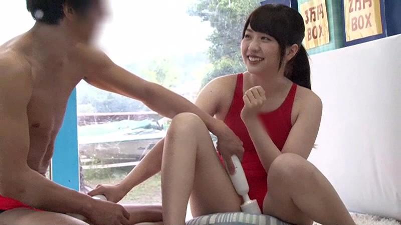 【エロ動画】スレンダーでエロい競泳水着姿の女子大生美女の、電マSMsexが、MM号にて…!!スラっとしてて美しい…!