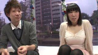【エロ動画】美乳で巨乳のJD美少女の、羞恥セックスイチャラブプレイが、MM号で!