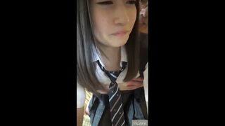 スレンダーなロリで着衣のJK女子校生の、ハメ撮りエロ動画!【JK、女子校生動画】