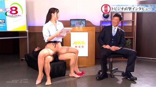 【エロ動画】スレンダーな女子アナの、お漏らし潮吹き乱交プレイエロ動画!