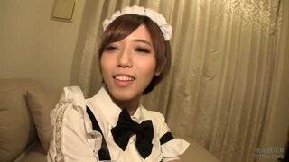 【エロ動画】巨乳の素人メイドの、アナル舐めコスプレハメ撮りプレイエロ動画!めちゃキュートです!