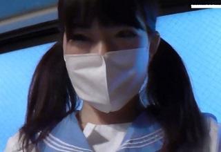 【無修正】18歳の素朴な制服美少女JKとの円光ハメ撮り映像