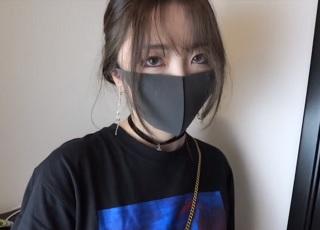 【無修正】色白デカ美尻なマスク美少女を巨根生ハメの個人撮影