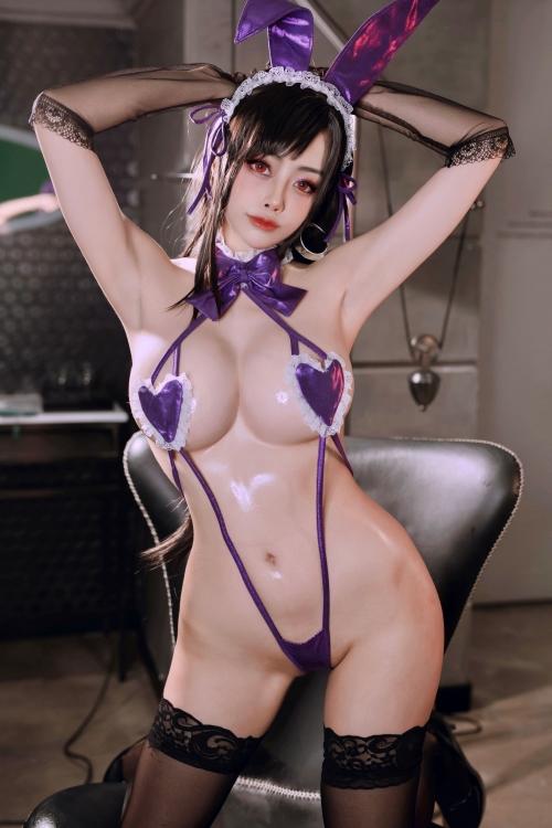 Byoru(ビヨル) FF7R Tifa Lockheart bunnygirl Cosplay 02