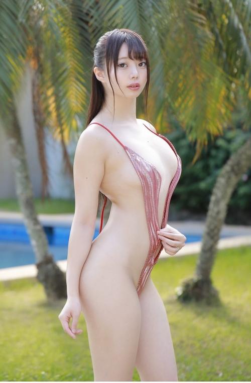 変態露出のV字水着 (Sling Bikini) エロ画像 02