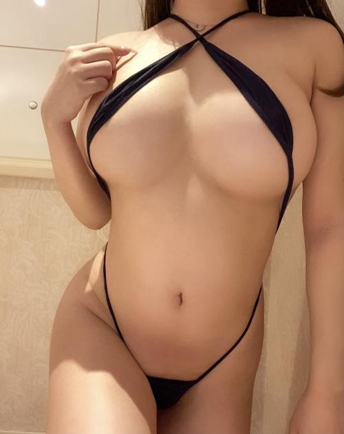 変態露出のV字水着 (Sling Bikini) エロ画像 22