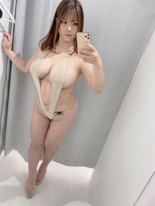 変態露出のV字水着 (Sling Bikini) エロ画像 33