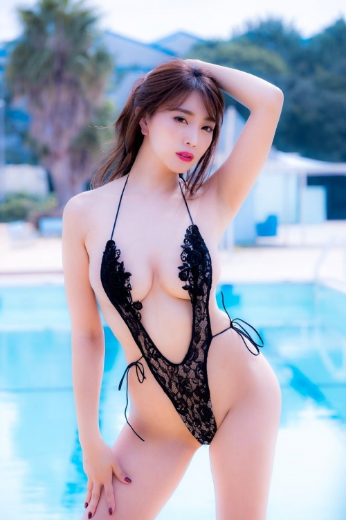 変態露出のV字水着 (Sling Bikini) エロ画像 39