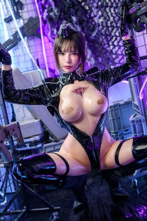 秋和柯基(夏小秋秋秋) XiaXiaoqiu Bondage cosplay 40