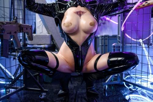 秋和柯基(夏小秋秋秋) XiaXiaoqiu Bondage cosplay 42