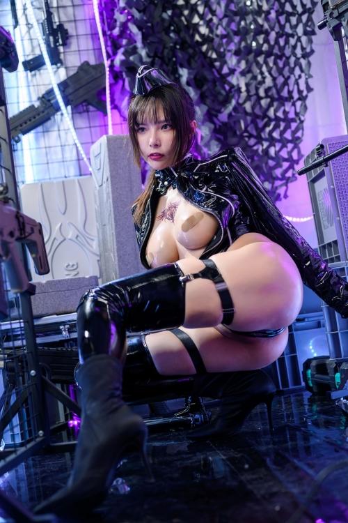 秋和柯基(夏小秋秋秋) XiaXiaoqiu Bondage cosplay 45