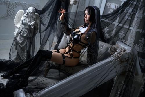 秋和柯基(夏小秋秋秋) XiaXiaoqiu Bondage cosplay 57