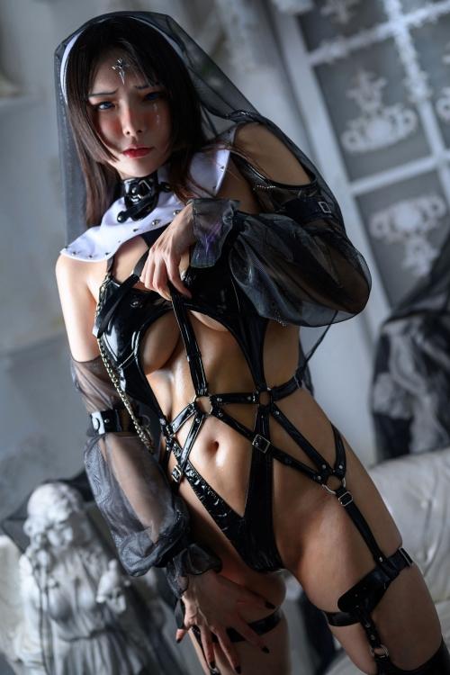 秋和柯基(夏小秋秋秋) XiaXiaoqiu Bondage cosplay 60