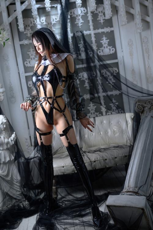 秋和柯基(夏小秋秋秋) XiaXiaoqiu Bondage cosplay 63