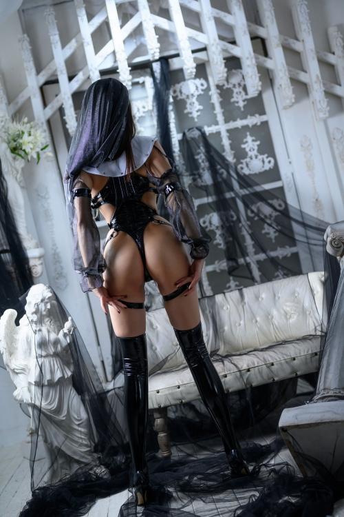 秋和柯基(夏小秋秋秋) XiaXiaoqiu Bondage cosplay 64