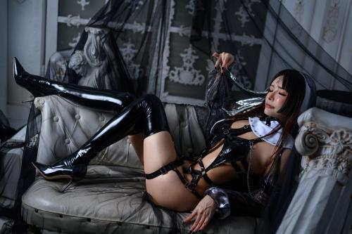 秋和柯基(夏小秋秋秋) XiaXiaoqiu Bondage cosplay 68
