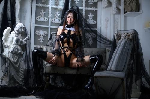 秋和柯基(夏小秋秋秋) XiaXiaoqiu Bondage cosplay 71
