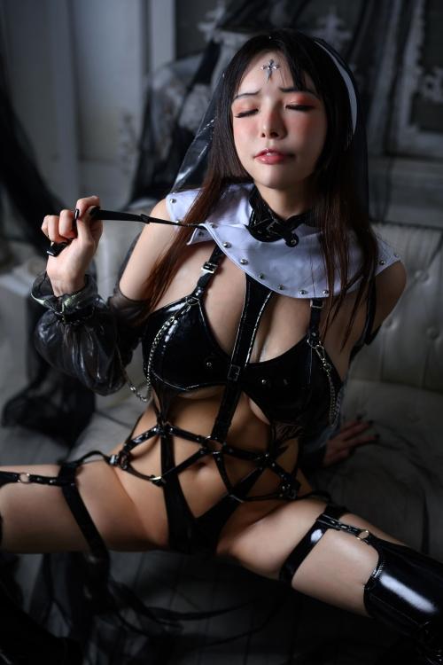 秋和柯基(夏小秋秋秋) XiaXiaoqiu Bondage cosplay 72