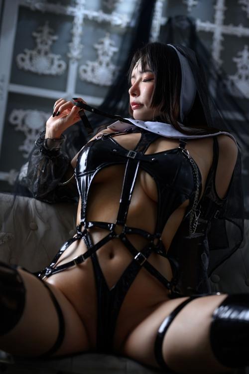 秋和柯基(夏小秋秋秋) XiaXiaoqiu Bondage cosplay 74